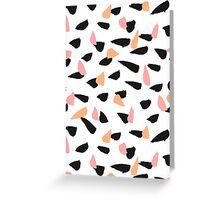 Black, Pink and Orange Brush Strokes Greeting Card