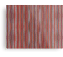 """""""Grey and terracotta stripes"""" abstract pattern, pastel, grey and terracotta, earth tones Metal Print"""