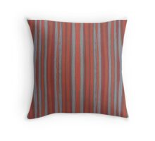 """""""Grey and terracotta stripes"""" abstract pattern, pastel, grey and terracotta, earth tones Throw Pillow"""