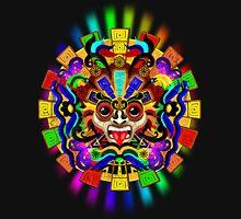 Aztec Warrior Mask Rainbow Colors Unisex T-Shirt