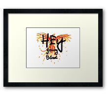 "Phoenix- Fall Out Boy ""Hey Young Blood"" Design  Framed Print"
