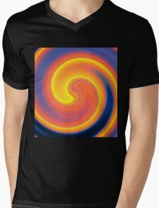 Sixties Twirl Mens V-Neck T-Shirt