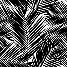 Palm Leaves in Black and White by Iveta Angelova