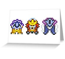 Legendary beasts 16 bit Greeting Card