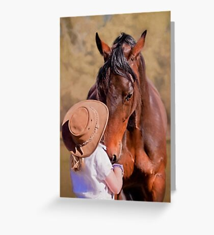 Gentle Giant - Horse and Child Greeting Card