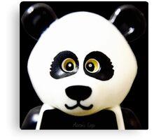 Cute Lego Panda Guy Canvas Print