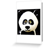 Cute Lego Panda Guy Greeting Card