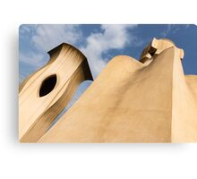 Whimsical Chimneys - Antoni Gaudi's Smooth Shapes and Willowy Curves - Right Canvas Print