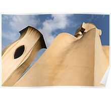 Whimsical Chimneys - Antoni Gaudi's Smooth Shapes and Willowy Curves - Right Poster