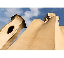 Whimsical Chimneys - Antoni Gaudi's Smooth Shapes and Willowy Curves - Right Photographic Print
