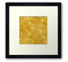 Gold texture Framed Print