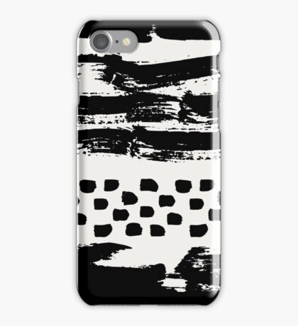Brush Stroke Waves iPhone Case/Skin