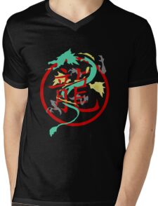 Beautiful Dragon weaved through Chinese dragon symbol Mens V-Neck T-Shirt