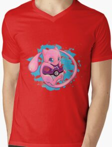 Huging Mew Mens V-Neck T-Shirt