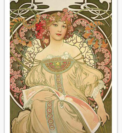 Alphonse Mucha Painting III Sticker