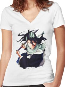 Byakuya Kuchiki// Women's Fitted V-Neck T-Shirt
