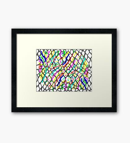 Fish Skin with Scales Framed Print