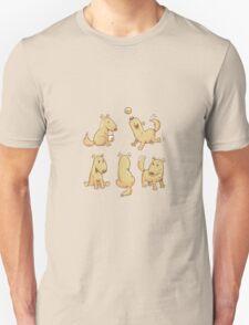 Cartoon dogs set. Unisex T-Shirt