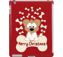 Christmas Dog In Red iPad Case/Skin