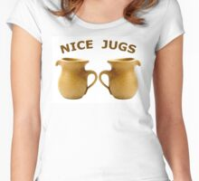 Nice Jugs Women's Fitted Scoop T-Shirt