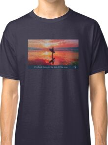 Cubic Surfers Sunset  Classic T-Shirt