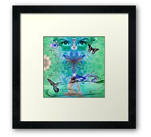 Green Yoga Framed Print