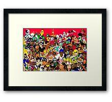 Anime/Cartoon Collage Framed Print