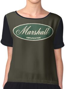 Marshall Amplification Oval Chiffon Top