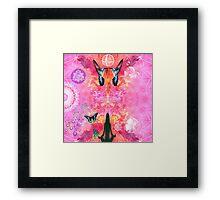 Pink Yoga  Framed Print
