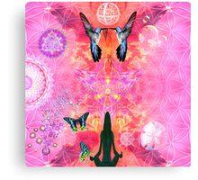 Pink Yoga  Canvas Print