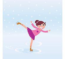Beautiful cute Girl on Ice Photographic Print