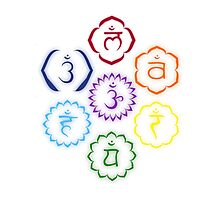 The 7 Main Chakras in a Circle Photographic Print