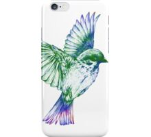 Textured Bird with changeable background color iPhone Case/Skin