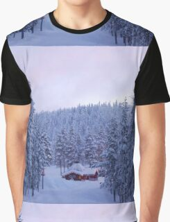 Hut in Enchanted Woods Graphic T-Shirt