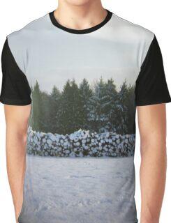Winter Logs Graphic T-Shirt