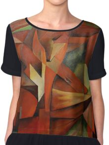 """Foxes"" -  Homage to Franz Marc (1913)     Chiffon Top"