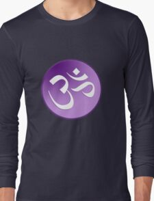 Braham OM Symbol in Purples and Lavenders Long Sleeve T-Shirt