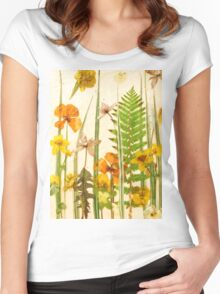 Floral Sunshine 2 Women's Fitted Scoop T-Shirt