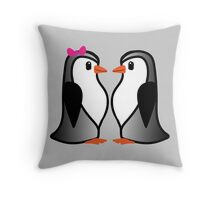 Penguin Lovers Throw Pillow