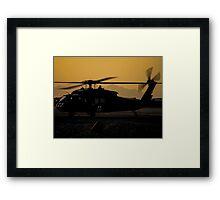 US Army Blackhawk Medic helicopter Framed Print