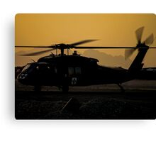 US Army Blackhawk Medic helicopter Canvas Print