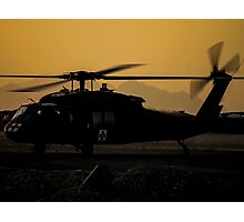 US Army Blackhawk Medic helicopter Photographic Print