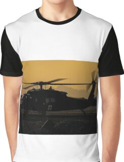 US Army Blackhawk Medic helicopter Graphic T-Shirt