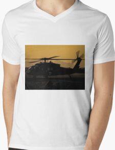 US Army Blackhawk Medic helicopter Mens V-Neck T-Shirt