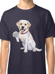 Labrador Retriever smiles and gives a paw Classic T-Shirt