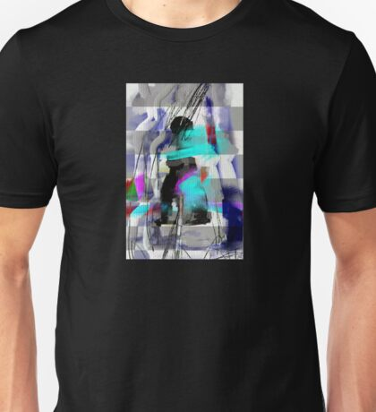 The river laughs of wet pines,  this spring,  sound tumult of water. Unisex T-Shirt