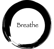 Breathe Symbol of Zen Photographic Print