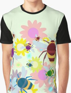 Bees & Flowers Graphic T-Shirt