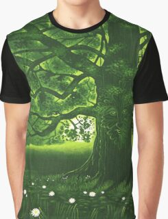 Greenman - acrylic painting Graphic T-Shirt