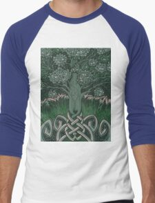 Tree of cognizance - acrylic on board Men's Baseball ¾ T-Shirt